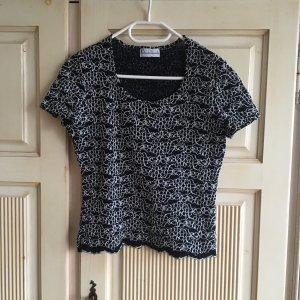 Vintage schwarze elastische Bluse