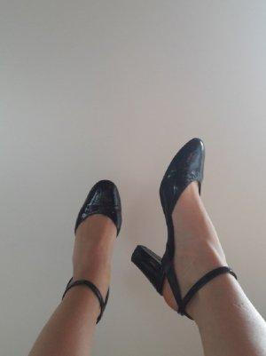 Vintage Mary Jane pumps zwart