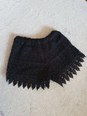 Vintage schwarze kurze Hose