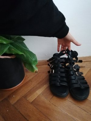 Vintage schwarze Sandalen