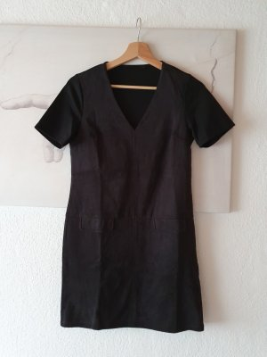 alternative vintage soft Midi-jurk zwart