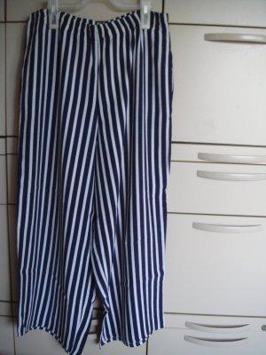 Vintage Spodnie Marlena ciemnoniebieski-jasnoszary Wiskoza