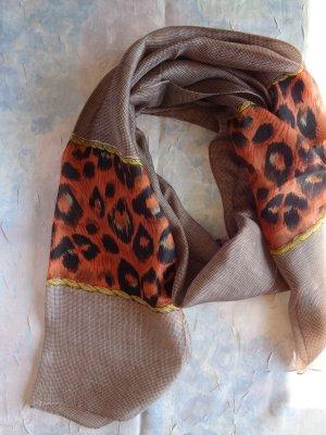 Vintage Bufanda de seda multicolor Seda