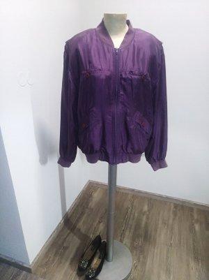 Vintage Seidenblouson lila mauve Gr. M-XL