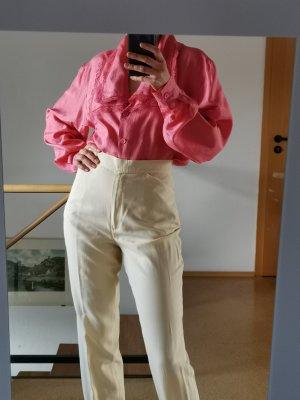 True Vintage Jedwabna bluzka różowy-różowy