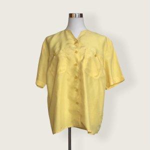 Vintage Seidenbluse by C&A in gelb
