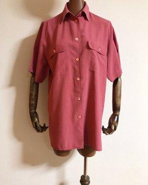 Vintage Silk Blouse raspberry-red silk
