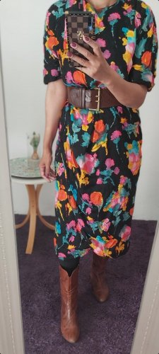 Vintage Seidenkleid Gr. 36 /38
