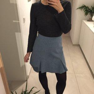 Vintage Sergio Donna hellblauer High Waist Rock Wolle Winter Skirt