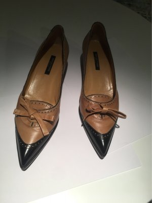 Sergio Rossi Wingtip Shoes cognac-coloured leather