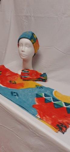 BELFE & BELFE Écharpe à franges multicolore