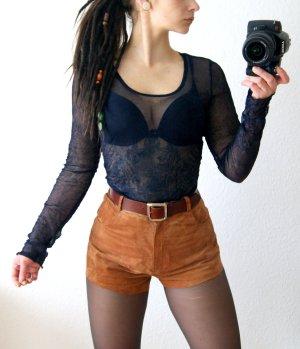 Vintage Shirt dunkelblau, transparentes Knittershirt Mesh, rave grunge festival