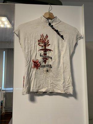 Vintage Shirt mit hohem Kragen