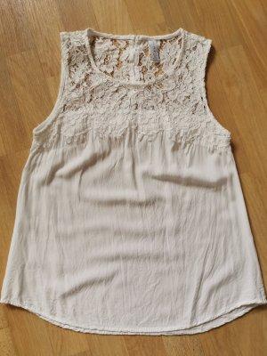 Amisu Crochet Shirt natural white