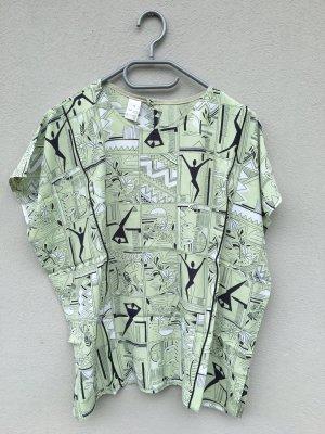 Vintage Shirt Oversize grün schwarz
