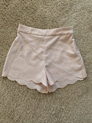 Pantaloncino a vita alta rosa pallido-rosa antico