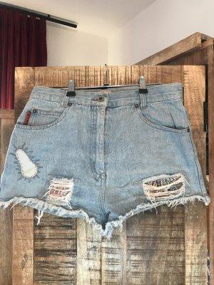 Short en jean bleu azur