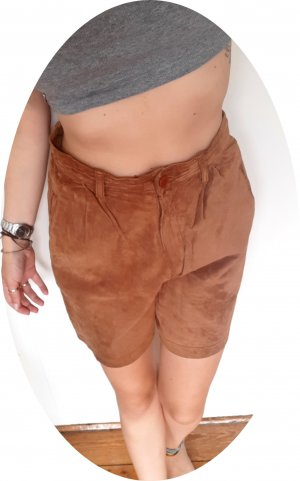 True Vintage Skórzane spodnie cognac-brązowy Skóra