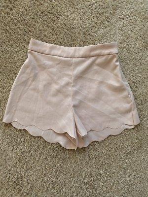High waist short rosé-stoffig roze