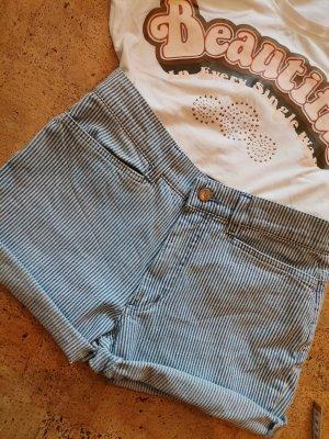 Angels Pantaloncino di jeans bianco-blu acciaio