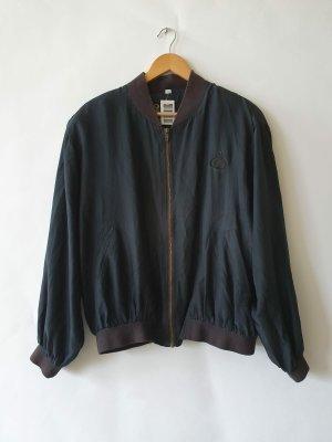 Vintage Silk Bomberjacke Jacket Seide Blouson 80s 90s Gr.L/40 schwarz