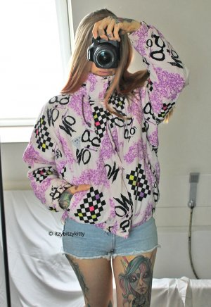 Vintage Giacca bomber multicolore