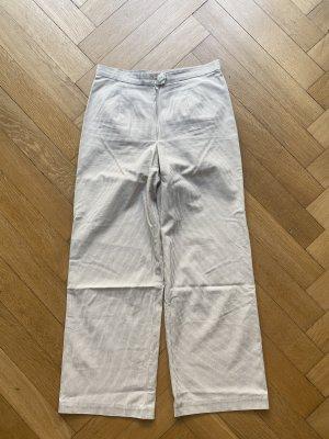 Vintage Spodnie z wysokim stanem szaro-brązowy-w kolorze białej wełny