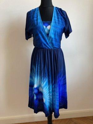 Vintage Sommerkleid, blau, Gr 38