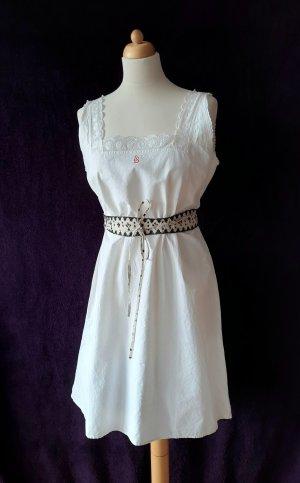 Vintage Sommerkleid mit Spitze Unterkleid Nachthemd