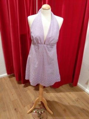 Vintage - Sommerkleid, Neckholder, fliederfarben - Gr. 38 - gut!