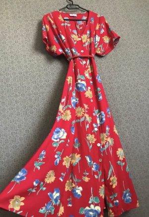 Vintage Sommerkleid rot floral