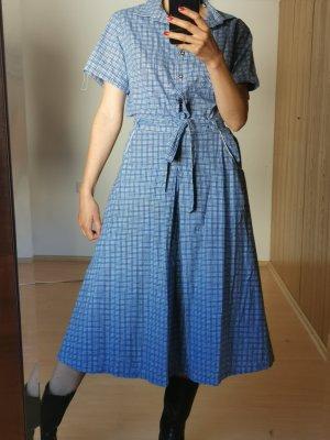 Vintage Damespak wit-blauw