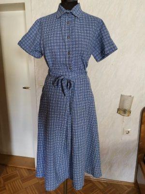 Vintage Traje para mujer blanco-azul