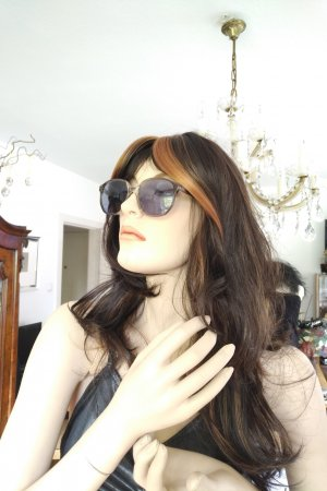 Original Vintage Angular Shaped Sunglasses light grey