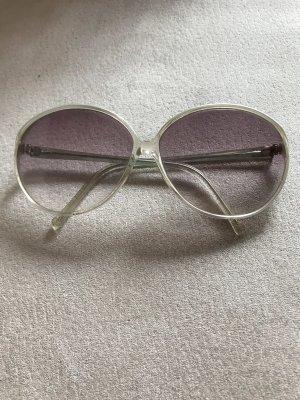 Occhiale stile retro rosa-malva