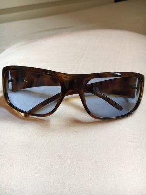 Gucci Hoekige zonnebril lichtbruin-azuur