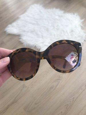 Vintage Okulary retro brązowy-czarno-brązowy