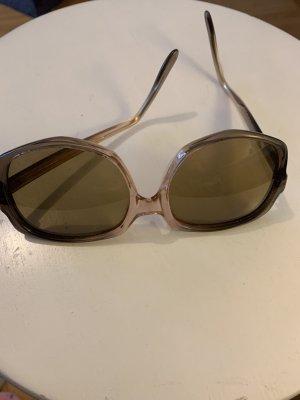 Okulary retro w kolorze różowego złota