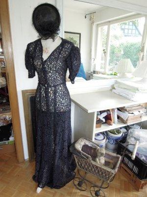 Vestido de encaje azul oscuro