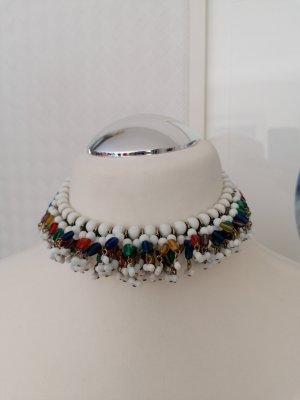 Vintage Statement Collier mit Glasperlen ausgefallenes Design