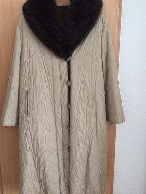 Bogner Futrzany płaszcz beżowy