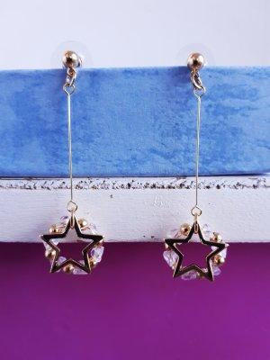 Vintage Sterne Ohrringe in Gold neu
