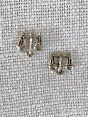 Vintage Sternzeichen Waage Ohrstecker Silber 925