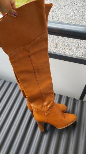 Vintage Laarzen met hak zandig bruin