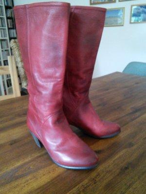 Vintage Stiefel rot PASTELLE Größe 37
