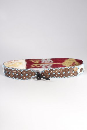 Vintage fabric belt shells and beads
