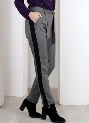 alternative vintage soft Pantalon en jersey noir-gris