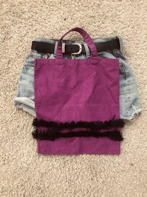 Bolso de tela rojo zarzamora-púrpura