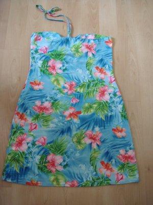 Vintage - Strandkleid Sommerkleid Gr. 38/40  buntes Hawai Muster - wie neu