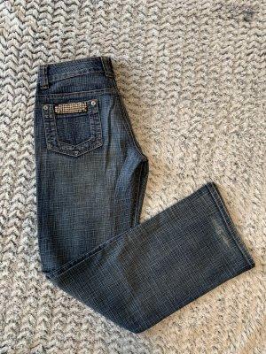 Vintage Streight Jeans mit Strass Details